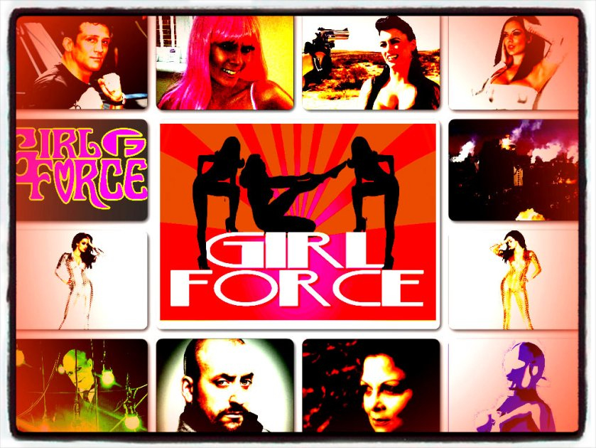 collage girlforce psychedelic B