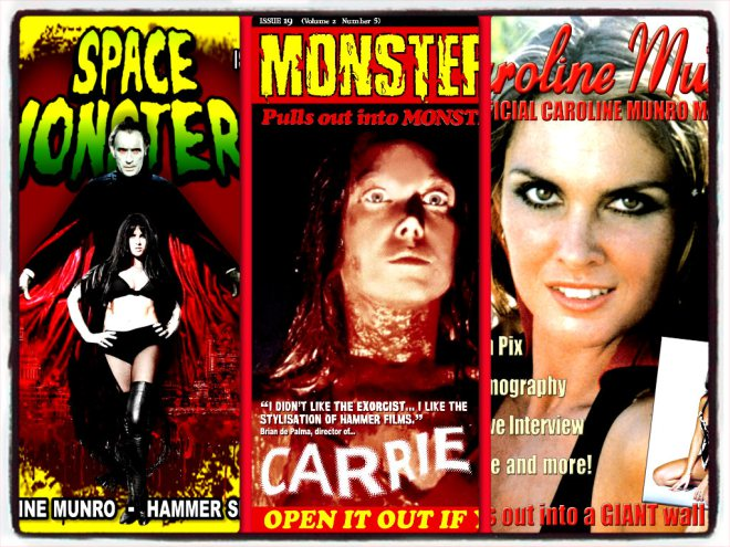 collage spacemonsters monstermag caroline